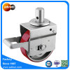 Heavy Duty Round Stem Casters PU Wheel with Roller Bearing