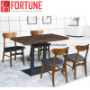 Most Popular Modern Industrial Wooden Restaurant Dining Table Set 4 Chairs (FOH-BCA16)