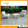 Modern Outdoor Patio White Aluminum Home Hotel Table and Chairs 2 Seaters Sofa Set Garden Dining Furniture
