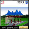 4 Hat Roof Awning Tent Q235 Steel PVDF Cover Guarantee 10years Life 50years