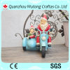 Resin Customized Christmas Crafts of Motorcycle Santa Claus Decoration