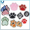 Flag Badge, Dog Footprint Embroidery Label, Cartoon Embroidery Patch for Garment Accessories, Woven Label for Decoaration