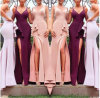 V-Neck Mermaid Bridesmaid Dresses Long Robe Demoiselle Formal Evening Dress R918