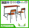Simple Design Cheap Double Student Desk and Chair (SF-10D)