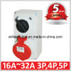IP44 16A 3p+N+E Industrial Switched Socket
