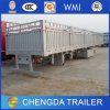 3 Axles Fence Cargo Trailer/ 50ton Livestock Transport Fence Trailer