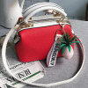 Newest Style PU Leather Women′s Handbag Color Collision Shoulder Bags with Accessory Sy8521