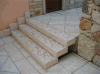 Rustic Staircase Solid Rosa Perlino Pink Limestone