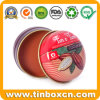 Custom Metal Cosmetics Tin Can Lip Balms Tin Boxes