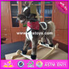 2017 Wholesale Horse Sound Baby Wooden Rocking Horse Plans, Best Sale Kids Wooden Rocking Horse Plans W16D092