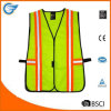Industrial Safety Vest with Reflective Stripes Neon Lime Green Orange