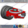 Air Bag Suspension with Slew Bearing Turntable with Lifting System for Trailer