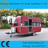 Ce Certificated Red Color Stainless Steel Food Trailer