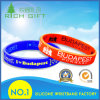Promotional Gift Custom Debossed Silicone Wristband with Color Filled