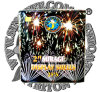 2 Inch Cake Mirage Display Shells 25 Shots Cake Fireworks Pyrotechnics