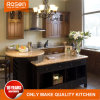 Red Design Classic Style Solid Wood Kitchen Cabinets Furniture