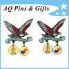 2015 Qatar Anniversary Metal Pin Badge with Dangler Badge (badge-024)
