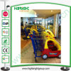 Shopping Center Plastic Kids Trolley with Toy Car