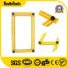 Folding Plastic Metric Scale Measuring Angle Yellow Multifunctional Folding Ruler