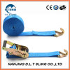 35mm 2t Double J Hook Ratchet Tie Down Cargo Lashing Strap Factory