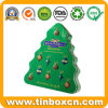 Christmas Tree Shape Metal Chocolate Tin for Gift Packaging Box