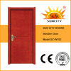 Popular Flat Teak Solid Painted Coloured Wooden MDF Door (SC-W103)