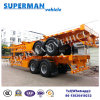 Double Axle Container Truck Semi Trailer for Cargo/ Frame/Skeletal