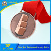 Cheap Custom Souvenir Metal Plated Medal with Ribbon (XF-MD28)