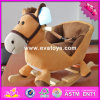 2017 Wholesale Baby Wooden Rocking Horse with Sound, New Fashion Kids Wooden Rocking Horse with Sound W16D095