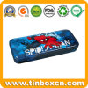 Custom Superman Metal Tin Pencil Box for Stationery Writing Case