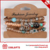 Colorful Beads Jewelry 3PCS Set Bracelet with Alloy Metal Pendent