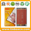 Custom Coloured Pencil Crayons Metal Tin Case Gift Boxes