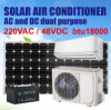 Hybrid AC and DC Power, on Grid Solar Air Conditioner