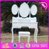 New Design Youth White Folding Wooden Dressing Table W08h076
