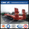 Cimc Huajun Hot Sales 3axle Lowbed Semi Trailer with Spring Ramp