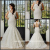 Cap Sleeves Lace Bridal Gowns Custom Made Full Lace Mermaid Wedding Dress G17286
