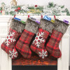 Christmas Gift Socks Stocking for Christmas Tree Hanging Derocation