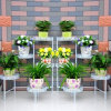 Metal Flower Stand Planter for Indoor and Garden Decoration