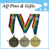 Wholesale Sports Medal With Printed 4 Colors Ribbon