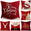 Wholesale Hot-Selling Christmas Decorations Hotel Restaurant Holiday Pillow Case Square Sofa Cushion Cover Home Textile