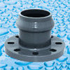 PVC Pressure Fittings With Rubber Ring Joint PN10 DIN Standard