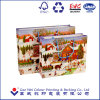 Custom High Quality and Fancy Printed Christmas Paper Gift Bag with Handles
