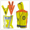 Hi-Vis Yellow Work Wear Safety Vest with Hood Jacket