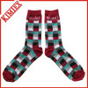 Fashion Cheap Colored Jacquad Socks Sport Athletic MID Claf Ribbed Crew Dress Sock