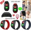 IP67 Waterproof Adult/Senior/Elderly GPS Tracking Bracelet with Heart Rate Monitor Y6h