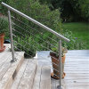 Modern Railing Design Outdoor Staircase Use Railing Wires Railing