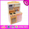 2015 Pretend Kitchen Toy for Kids, Colourful DIY Wooden Children Kitchen Toys, Best Selling Wooden Toys Kitchen Play Set W10c141