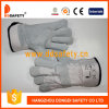 Grey Cow Split Labour Protection Leather Gloves for Construction