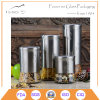 Kitchen Canister Set of 4 Glass Fronted Stainess Steel