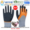 13G Polyester Shell Nitrile 3/4 Coated Inner, Sandy Nitrile Thumb Coated Outer Gloves (N2002) with CE, En388, En420, Work Gloves
